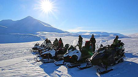 På snøskuter til Barentsburg