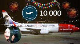 hvor mange fly har norwegian