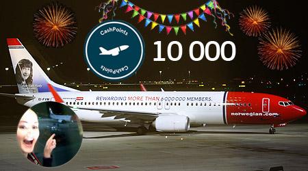 Slik vant jeg 10 000 Norwegian CashPoints