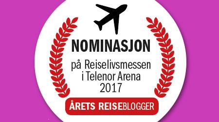 Nominert til årets reiseblogger