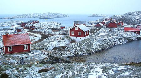 Vinteridyll på Väderöarna
